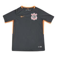 Camisa Torcedor Infantil Corinthians III 2017 18 Sem Número Nike 4892f9d8d91d1