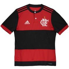 Camisa Torcedor Infantil Flamengo I 2017 18 Sem Número Adidas 5ab14713fccbc