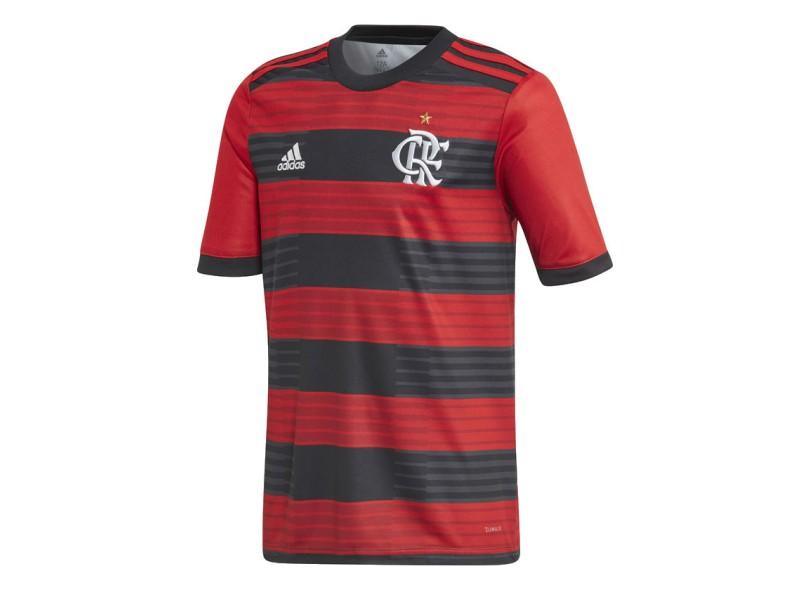 ea8699165b42a Camisa Infantil Flamengo I 2018 19 sem Número Torcedor Infantil Adidas