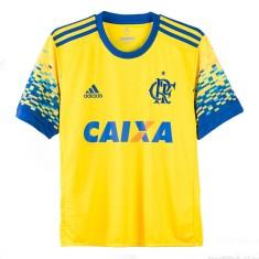 Camisa Torcedor Infantil Flamengo III 2017 18 Sem Número Adidas 0bc40971d5c7b