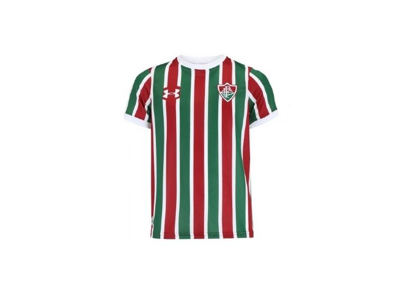 6f347fe0ee Camisa Infantil Fluminense I 2017 18 Sem Número Torcedor Infantil Under  Armour
