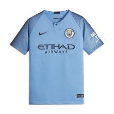 95ab5b6ca1a62 Camisa Torcedor Infantil Manchester City I 2018 19 Nike