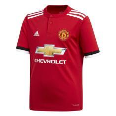 Camisa Torcedor Infantil Manchester United I 2017 18 Adidas a7690a90eead9