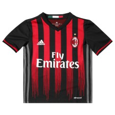 Camisa Torcedor infantil Milan I 2016 17 sem Número Adidas 5fc9b000dd371