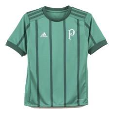 Camisa Torcedor Infantil Palmeiras I 2017 18 Sem Número Adidas 99bf45190e015