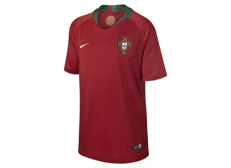 d16325021544e Camisa Infantil Portugal I 2018 19 sem Número Torcedor Infantil Nike