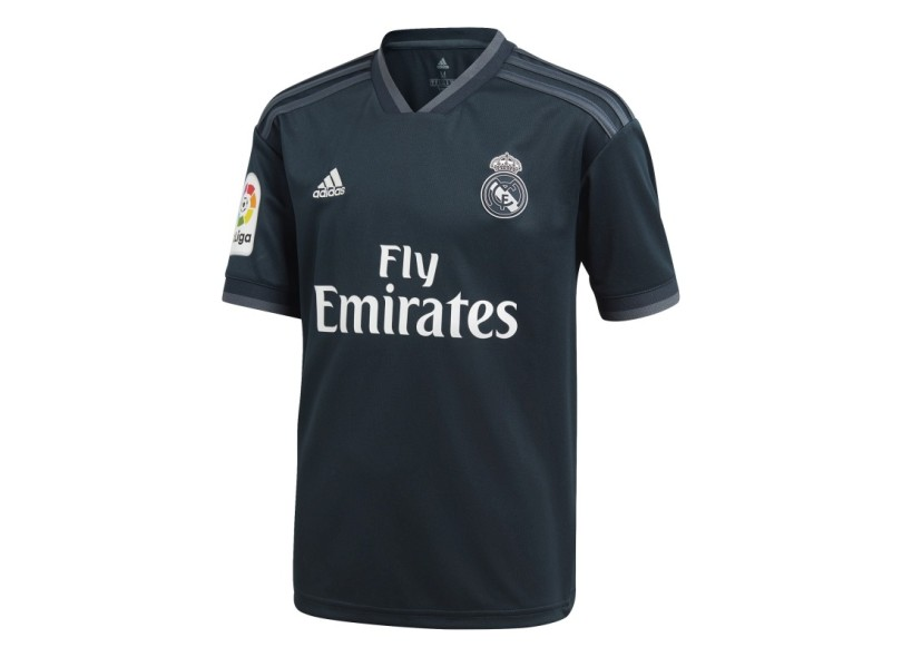 Camisa Infantil Real Madrid II 2018 19 Torcedor Infantil Adidas c7935cdd3684d