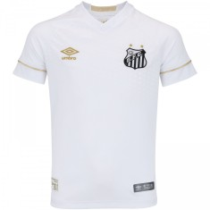 Camisa Torcedor infantil Santos I 2017 18 sem Número Umbro 7dfb35c74dabc