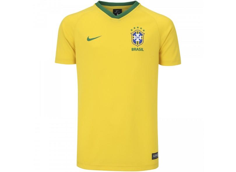 a411f5930a186 Camisa Infantil Supporter Brasil I 2018 19 sem Número Torcedor Infantil Nike