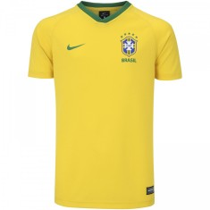 755a66ce0cdc9 Camisa Torcedor Infantil Supporter Brasil I 2018 19 sem Número Nike