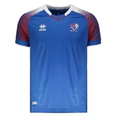 Camisa Torcedor Islândia I 2018/19 sem Número Errea