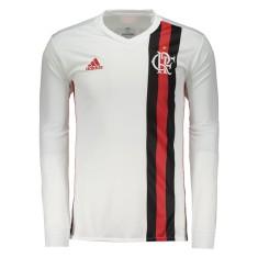 d9851d56f4ec8 Camisa Torcedor Manga Longa Flamengo II 2017 18 Sem Número Adidas