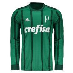 47007e3705 Camisa Torcedor Manga Longa Palmeiras I 2017 18 Adidas
