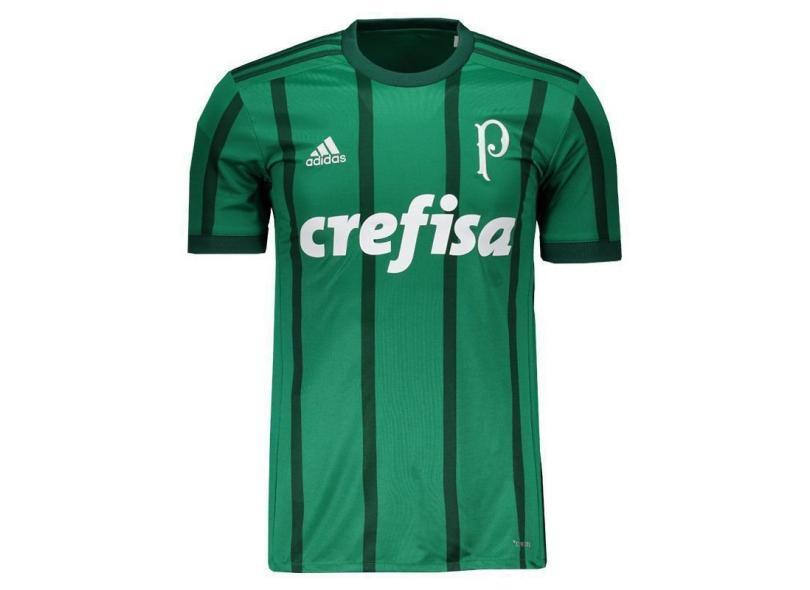 696898fe18 Camisa Palmeiras I 2017 18 Torcedor Masculino Adidas