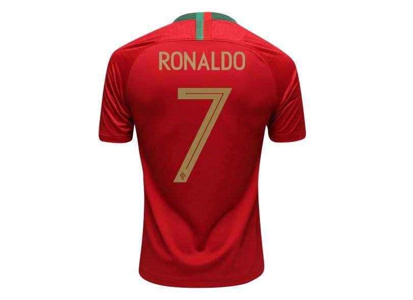 Camisa Portugal I 2018 19 Torcedor Masculino Nike 17367ff328d95