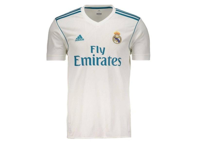 Camisa Real Madrid I 2017 18 Torcedor Masculino Adidas 7735dd6815bd5