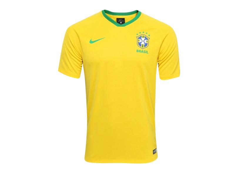 Camisa Supporter Brasil I 2018 19 sem Número Torcedor Masculino Nike 741a0f237241e