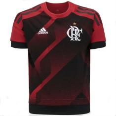 Camisa Treino Infantil Flamengo Longline 2017 18 Adidas a88f80287eaf3