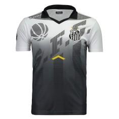56b5cff530 Camisa Viagem Polo Santos 2017 18 Kappa