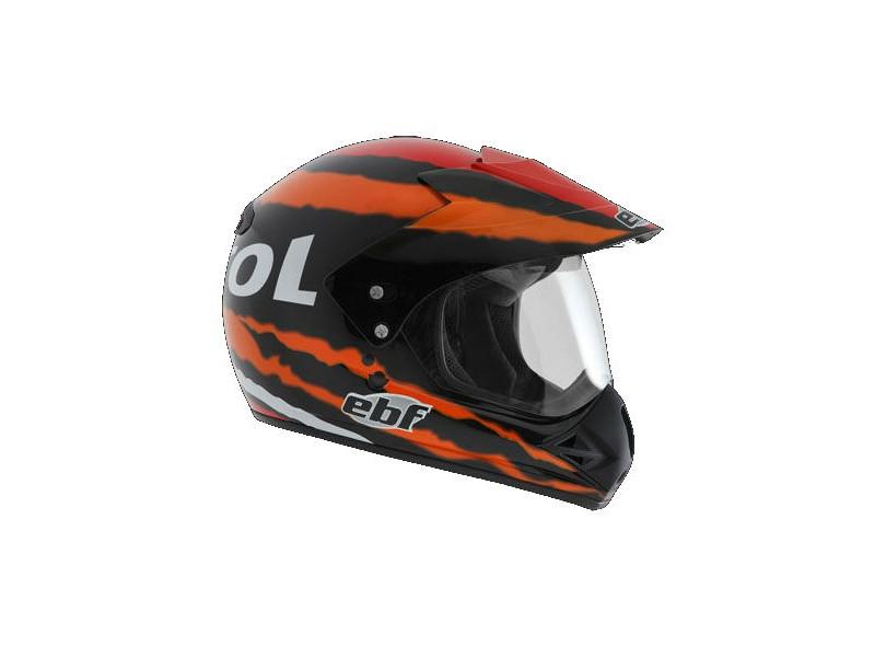 61982a251da40 Capacete Helmet EBF Motard Off-Road Fecho de engate rápido