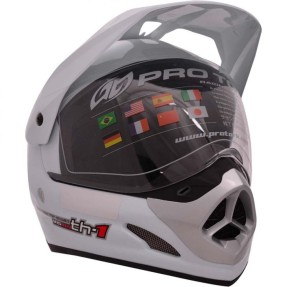 Capacete Protork TH-1 Vision Off-Road com viseira