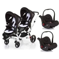 Carrinho de Bebê para Gêmeos com Bebê Conforto ABC Design Zoom