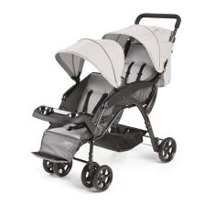 Carrinho de Bebê para Gêmeos Multikids Dou Cinza BB531