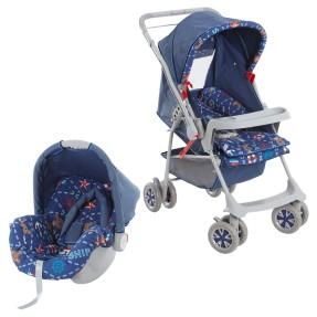 Carrinho de Bebê Travel System com Bebê Conforto Galzerano 1015 Milano Reversível