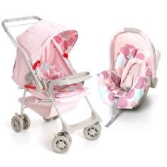 Carrinho de Bebê Travel System com Bebê Conforto Galzerano Milano Reversível II 1016