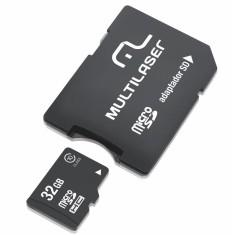 Cartão de Memória Micro SD com Adaptador Multilaser 32 GB MC111