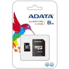 Cartão de Memória Micro SDHC com Adaptador Adata 8 GB AUSDH8GCL4-RA1