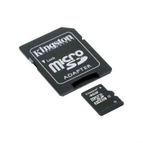Cartão de Memória Micro SDHC com Adaptador Kingston 4 GB SDC4/4GB