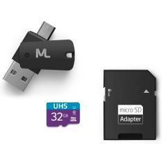 Cartão de Memória Micro SDHC com Adaptador Multilaser 32 GB MC151