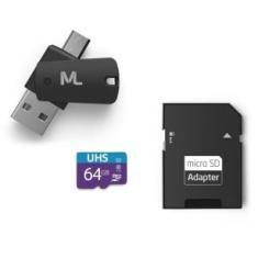 Cartão de Memória Micro SDHC com Adaptador Multilaser 64 GB MC152
