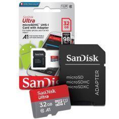 Cartão de Memória Micro SDHC com Adaptador SanDisk Ultra 32 GB SDSQUAR-032G