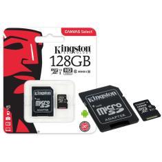 Cartão de Memória Micro SDXC com Adaptador Kingston Canvas Select 128 GB SDCS/128GB