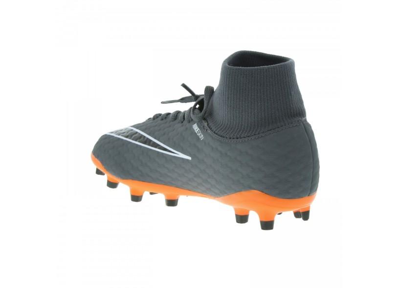 Chuteira Infantil Campo Nike Hypervenom Phantom 3 Academy DF FG 80c1bacc6eb6e
