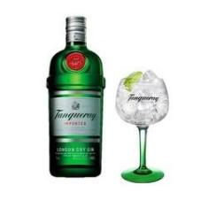 Combo Gin Tanqueray London Dry 750ml + 1 Taça Tanqueray Importada