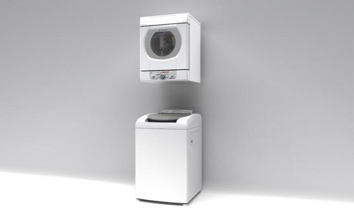 Conhe a modelos de secadora de roupas de parede - Lavadora secadora pequena ...