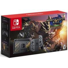 Console Portátil Switch 32 GB com Joy Con Nintendo Monster Hunter Rise Deluxe Edition