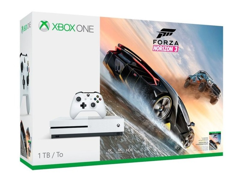 2ccaee8407aea Console Xbox One S 1 TB Microsoft HDR 4K