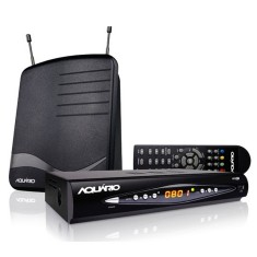 Conversor Digital Full HD HDMI USB DTV 8100 com Antena Interna Aquário