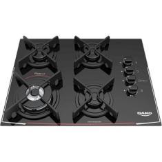 Cooktop Dako 4 Bocas Acendimento Superautomático Turbo Cook DC4VTZ-PS0