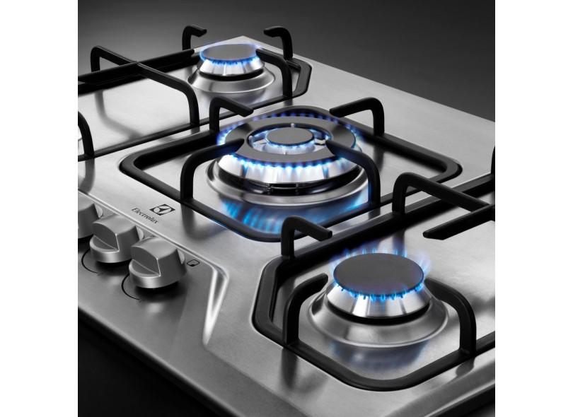 3ce2fddaa Cooktop Electrolux GT75X Acabamento Inox 5 Bocas Acendimento  Superautomático Queimador com Tripla Chama Queimadores Diferentes