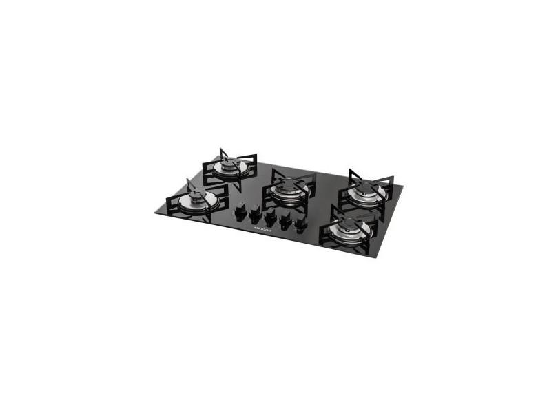 0962844c9 Cooktop Suggar FG5005VP 5 Bocas Acendimento Superautomático Queimadores  Diferentes