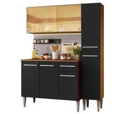 Cozinha Compacta 1 Gaveta 7 Portas Emilly Gold GREM1370037K Madesa