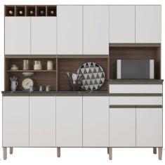 Cozinha Compacta 2 Gavetas 12 Portas Malbec Ronipa