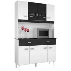 Cozinha Compacta 2 Gavetas 8 Portas Manu Poquema
