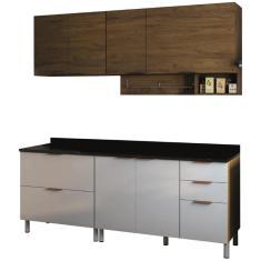 Cozinha Compacta 5 Gavetas 6 Portas Rubi Bartira