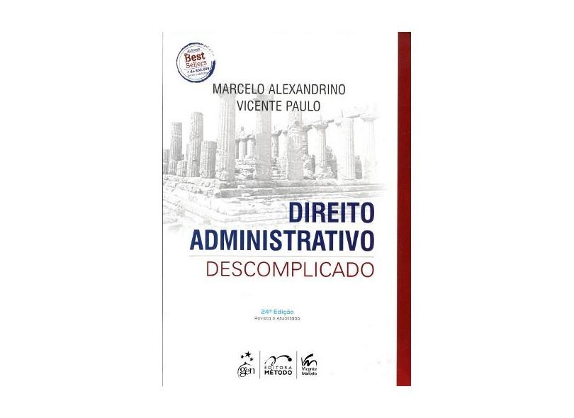 livro de direito administrativo descomplicado